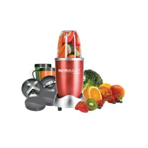 NUTRIBULLET SET 12PCS 600W HGH SPEED RED