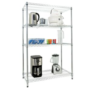 WIRE RACK 91X45X140CM 4 TIER CHROME HD