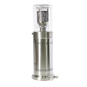 PATIO HEATER GAS 137CM SS W/COVER
