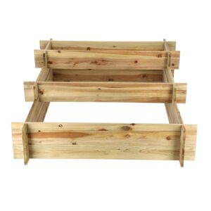 WOODEN KIT PLANTER 120X100X40CM