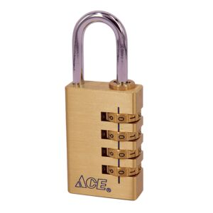 "PADLOCK 7/8"" 22MM BRASS 2PCS"