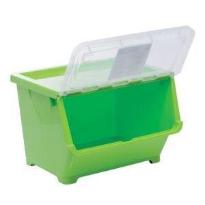 STORAGE BOX 30L GREEN LARGE PLASTIC