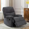 كرسي استرخاء 84×99×99سم قماش ازرق رمادي
