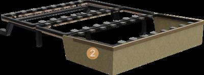 Schlafsofa Subito   Aufbau Querschnitt mit Metalgestell und Holzgestell