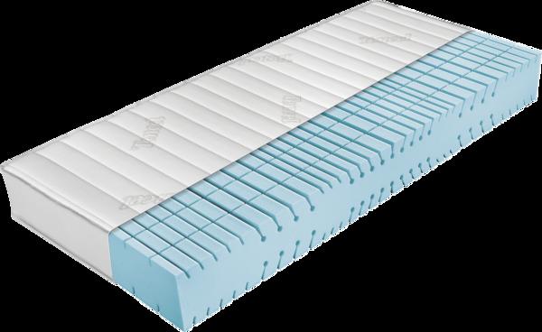 Matratze mit hellblauem Kaltschaumkern