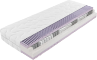 Matratze mit lila Taschenfederkern