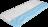 Topper mit blauem Kaltschaumkern