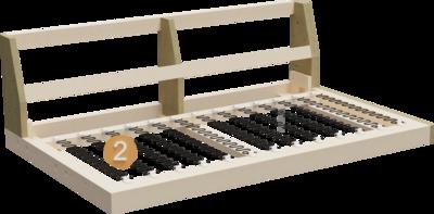 Couch Summer   Aufbau Querschnitt von Gestell und Sitzaufbau