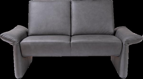 Sitzgruppe Maui in dunkelgrauem Leder ohne Nackenstütze