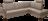 Ecksofa Marino in braunem Leder mit Metallfüßen.