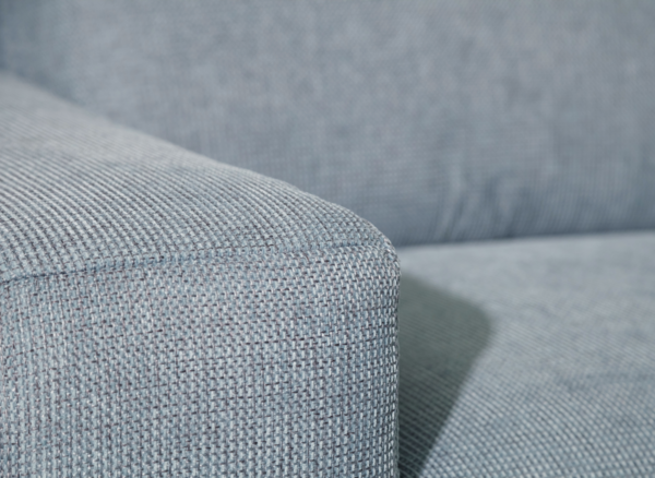 Detailed view of the gray cover of the seat set Ocean