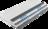 Matratze mit grauen und blauen Kaltschaum