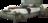 Boxspringbett in grünem Leder mit Massivholzsockel und Quadratheftung im Kopfhaupt
