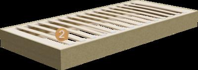 Relaxliege Imposa | Aufbau Querschnitt mit Gestell und Lattenrost