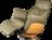 grüner Ledersessel mit Holzelement, Nackenstützenverstellung und Relaxfunktion