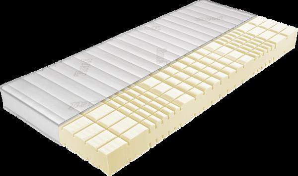 Matratze mit gelben Kaltschaumkern