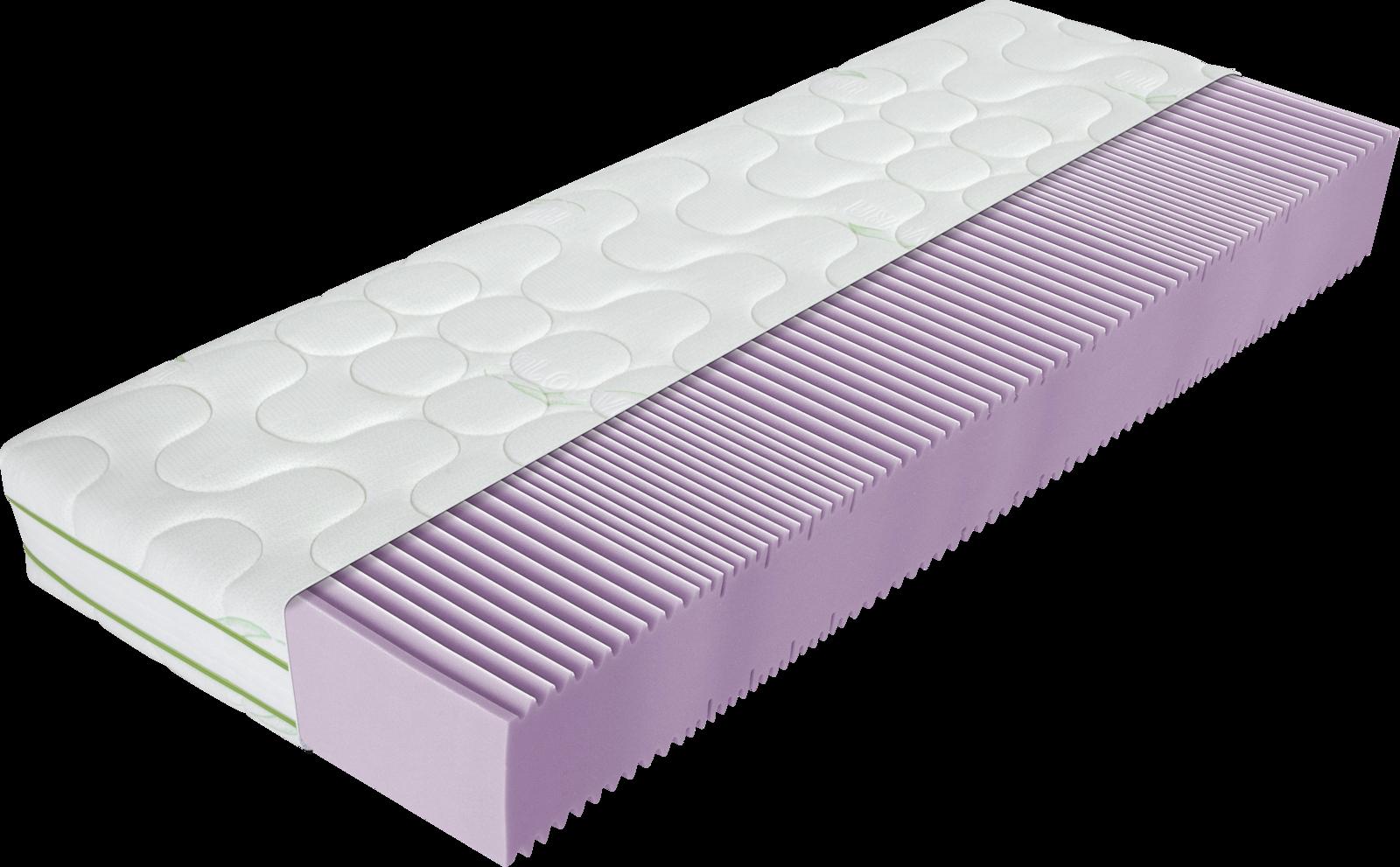 Matratze mit lila Kaltschaumkern