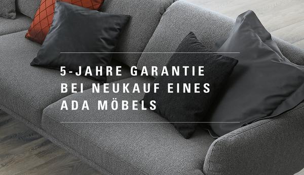 5 Jahre Garantie bei Neukauf eines Möbels