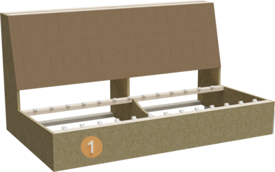 Sofa Stev | Aufbau Querschnitt Gestell