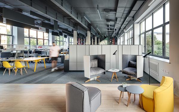 Office- und Kreativmöbel im Coworking space