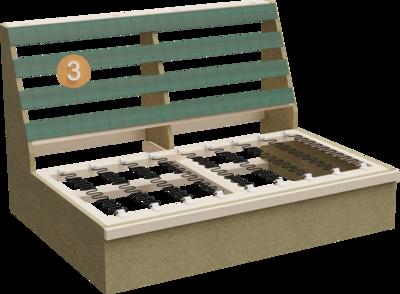Ecksofa Clan | Aufbau Querschnitt aus Gestell, Sitzaufbau und Rückenlehne