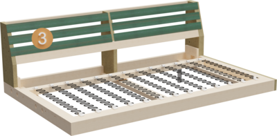 Couch Summer   Aufbau Querschnitt von Gestell, Sitzaufbau und Rückenlehne