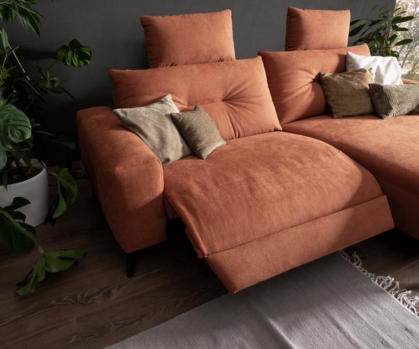 Detailbild von Sofa Alika mit elektrischer Relaxliege