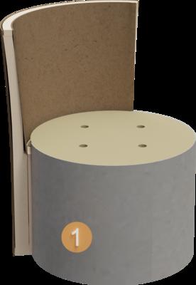 Sitzhocker Veda | Aufbau Querschnitt Gestell