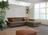 Graues Sofa mit komfortabler Doppelliege, sowie Arm- und Nackenverstellung