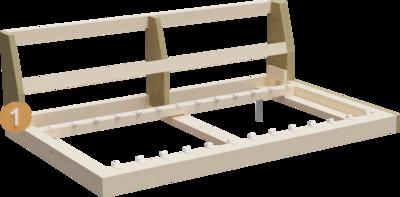 Couch Summer   Aufbau Querschnitt von Gestell