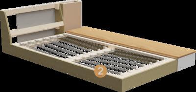 Recamiere Inspiro | Aufbau Querschnitt aus Gestell und Sitzaufbau