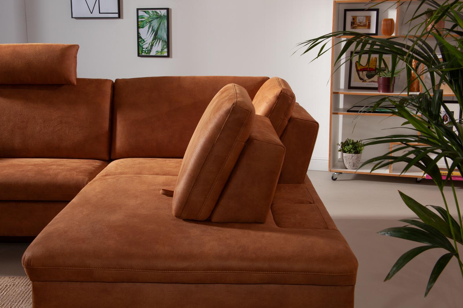 Detailbild von Ecksofa Domino mit Sitztiefenverstellung