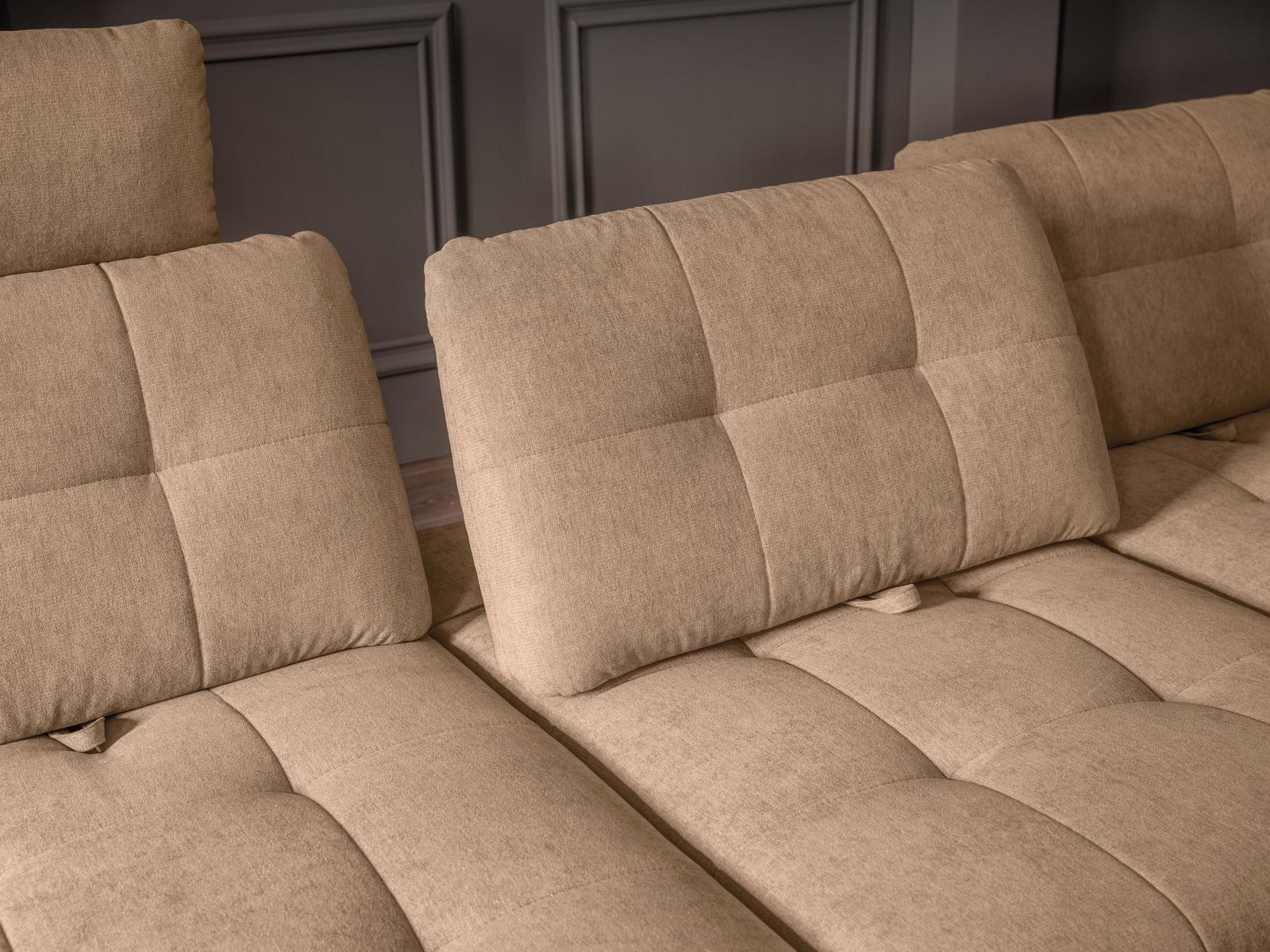 Detailbild von Sofa Mattes mit Sitztiefenverstellung und Quadratheftung