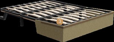 Schlafsofa Subito   Aufbau Querschnitt mit Metalgestell, Holzgestell und Sitzaufbau