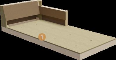 Chaiselongue Intera | Querschnitt Aufbau aus Gestell