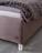 Bett Arcadia mit Chromfüßen und geräumiger Bettkasten mit Lochbodenplatte zur Belüftung