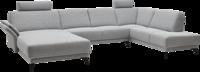 graues Sofa in U-Form