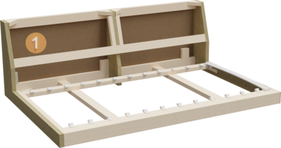 Vision corner couch | Structure Cross-section of the frame