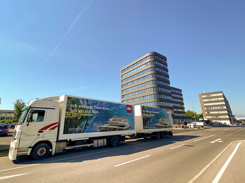 ADA Standort in Raaba (Graz) mit LKW