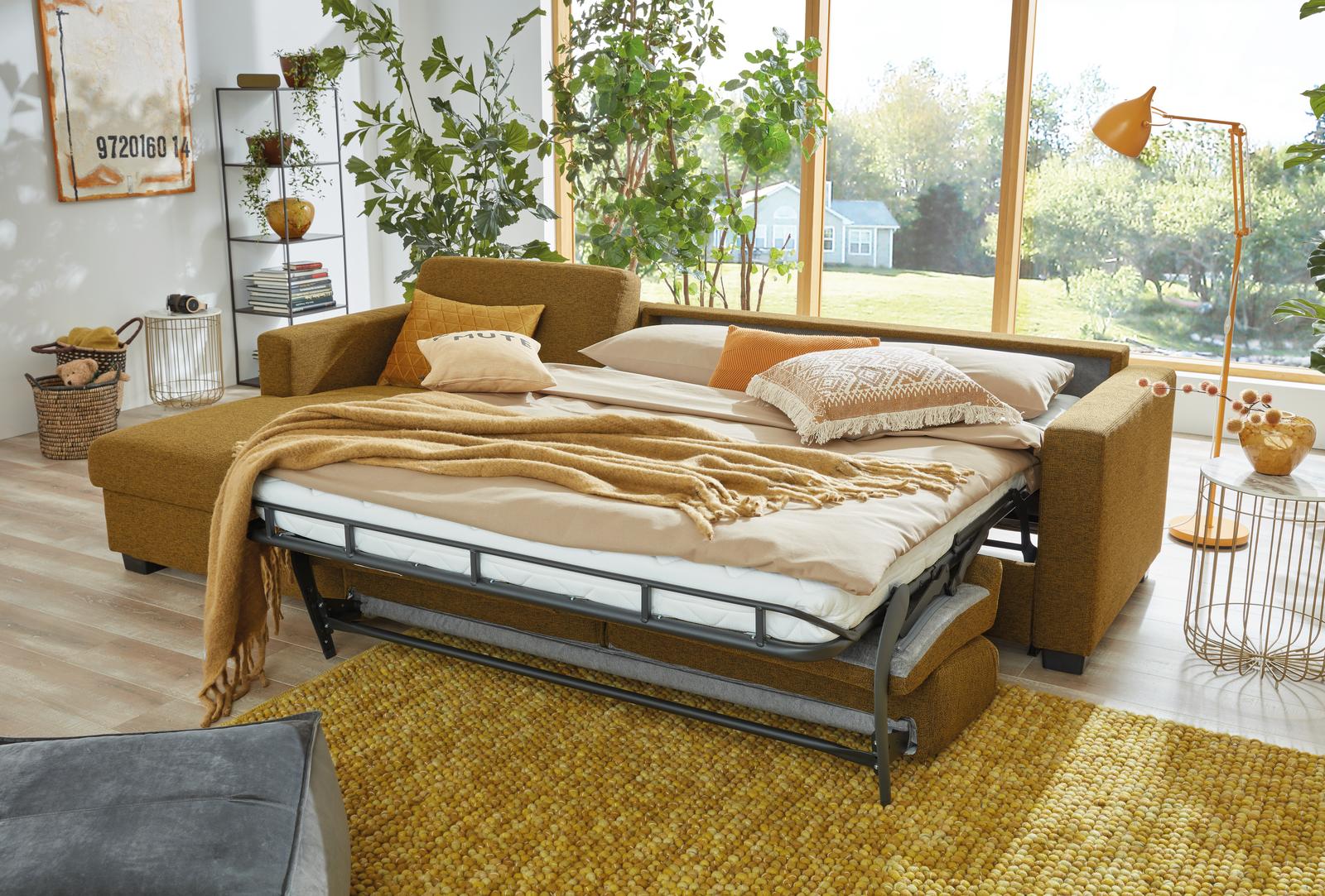 Schlafsofa mit Chaiselounge und Doppelbett Funktion