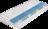 Matratze mit Tonnentaschenfederkern und blauem Schaum