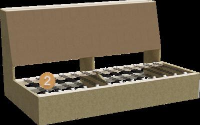 Sofa Stev | Aufbau Querschnitt aus Gestell und Sitzunterfederung