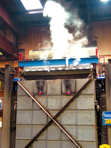 ComFlor® with FibreFlor® fire test images