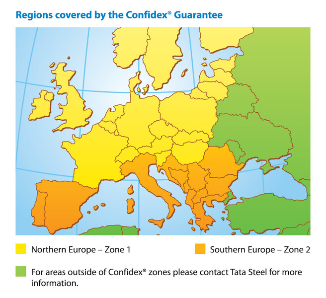 Confidex Guarantee map