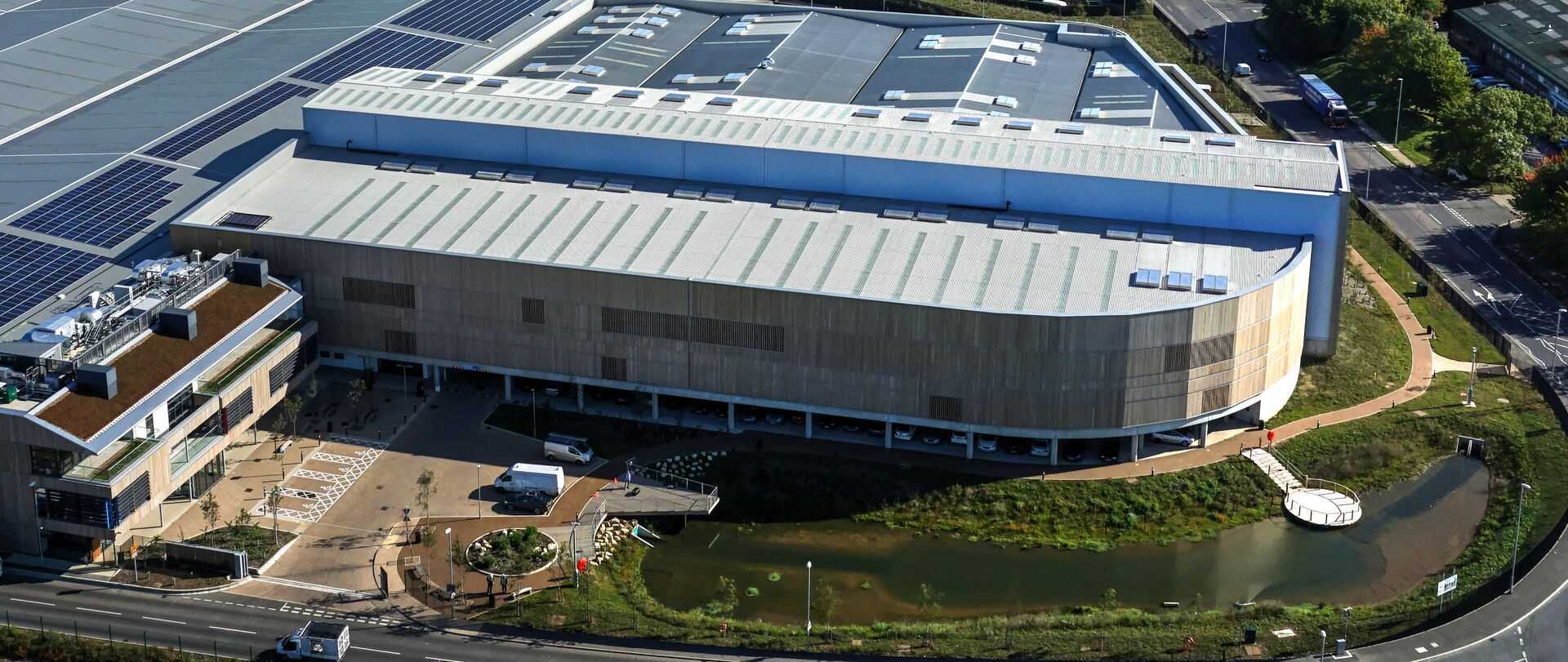 Tovi Eco Park using Tata Steel Trisobuild roof cladding
