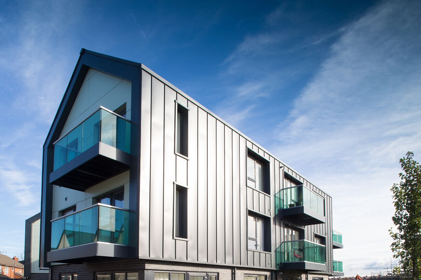 Queens Park featuring Colorcoat Urban standing seam cladding