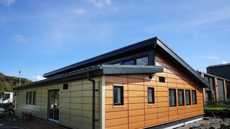 Active Classroom, Swansea University Colorcoat Urban rainwater systems