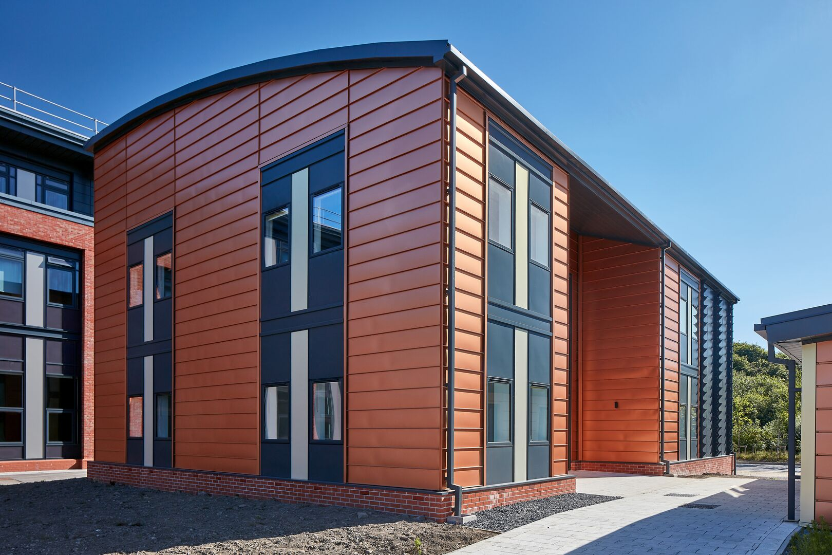 Active classroom featuring Colorcoat Urban standing seam cladding