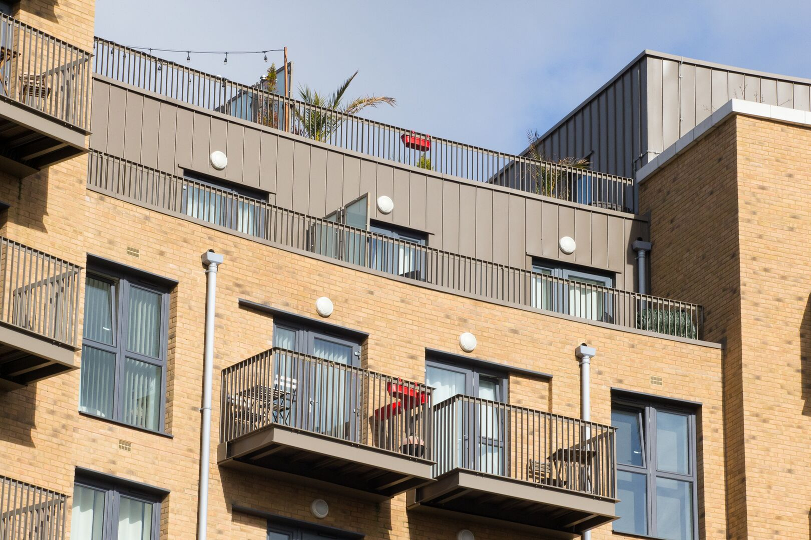 NSQ New South Quarter featuring Colorcoat Urban standing seam cladding