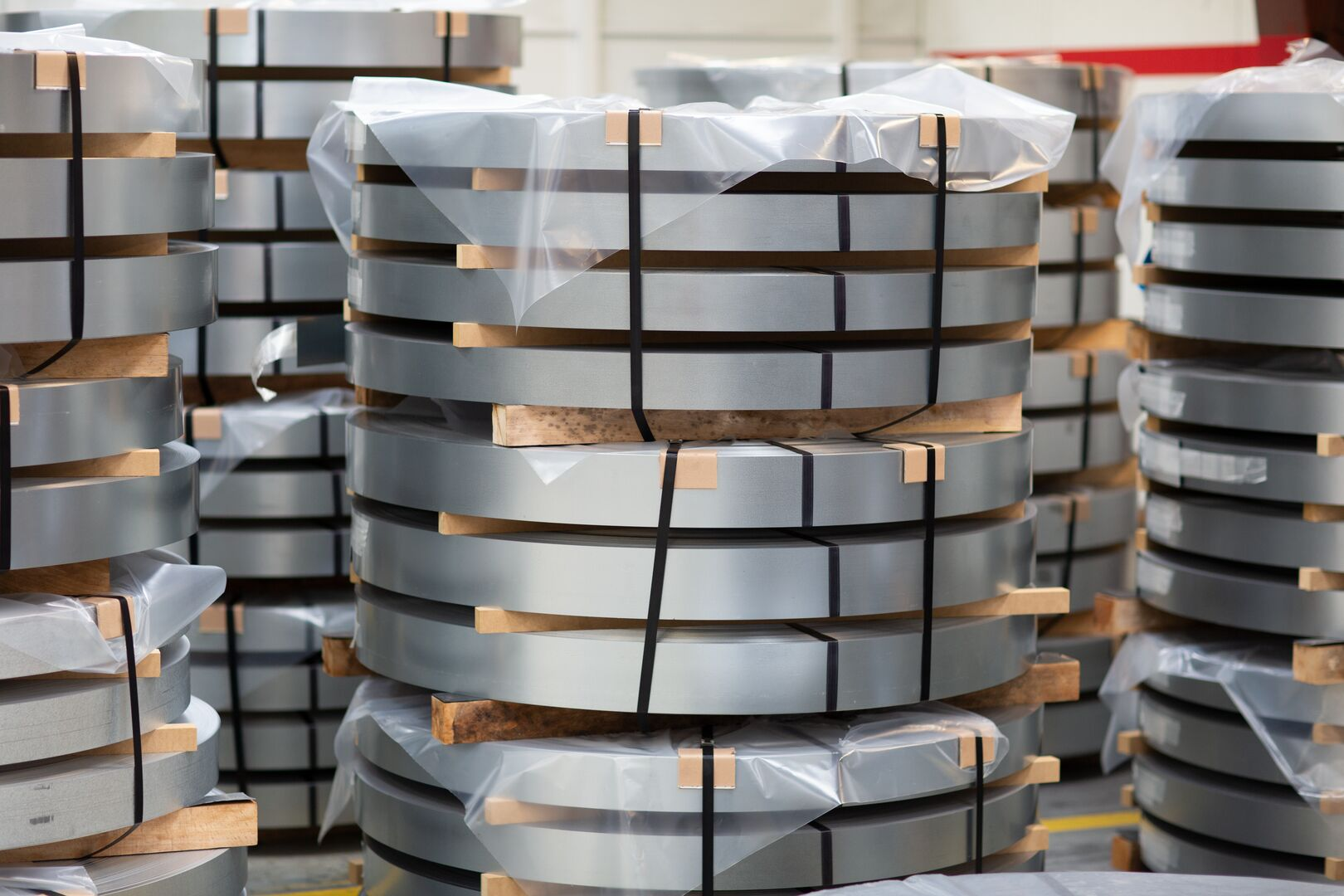 Steel coils at the Unitol Service Centre